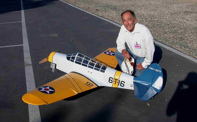 Dan Reiss with his scratch-built TBD powered by a Brison 3.2