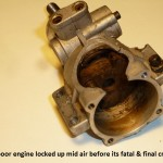 corrosion, crankcase, crankshaft, fuel damage, bearing failure, O.S.